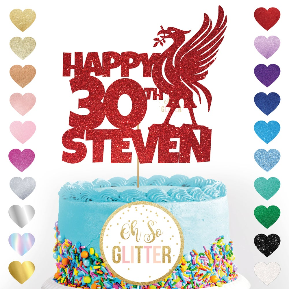 Image of Liverpool Football customised cake topper