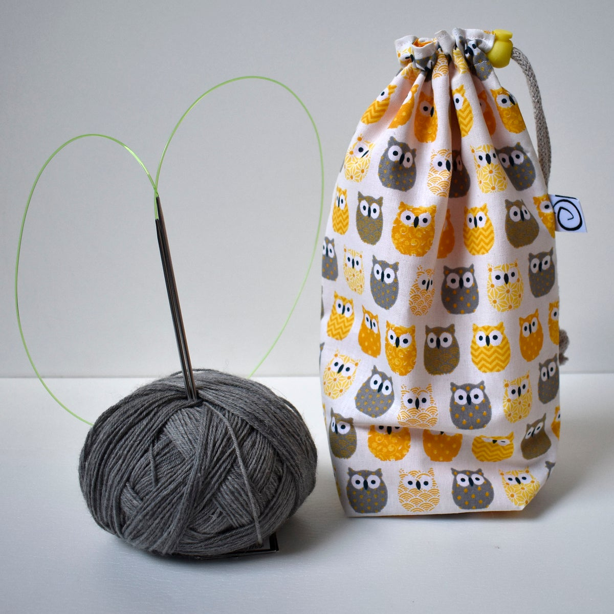 Small reversible drawstring bag
