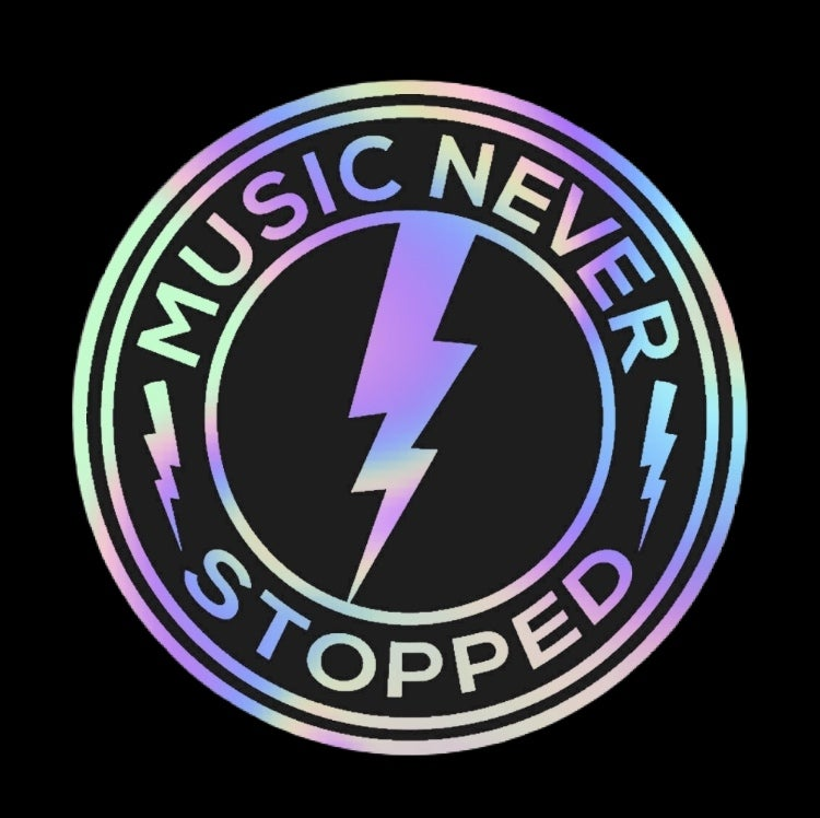 Music Never Stopped Holographic Sticker Pack!