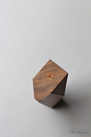 Image of Faceted wood vase - wabi sabi, stick vase, bud vase - table centerpiece