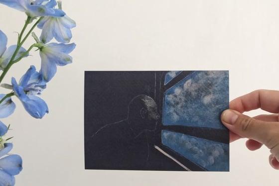 "Image of postkaart ""onderweg"""