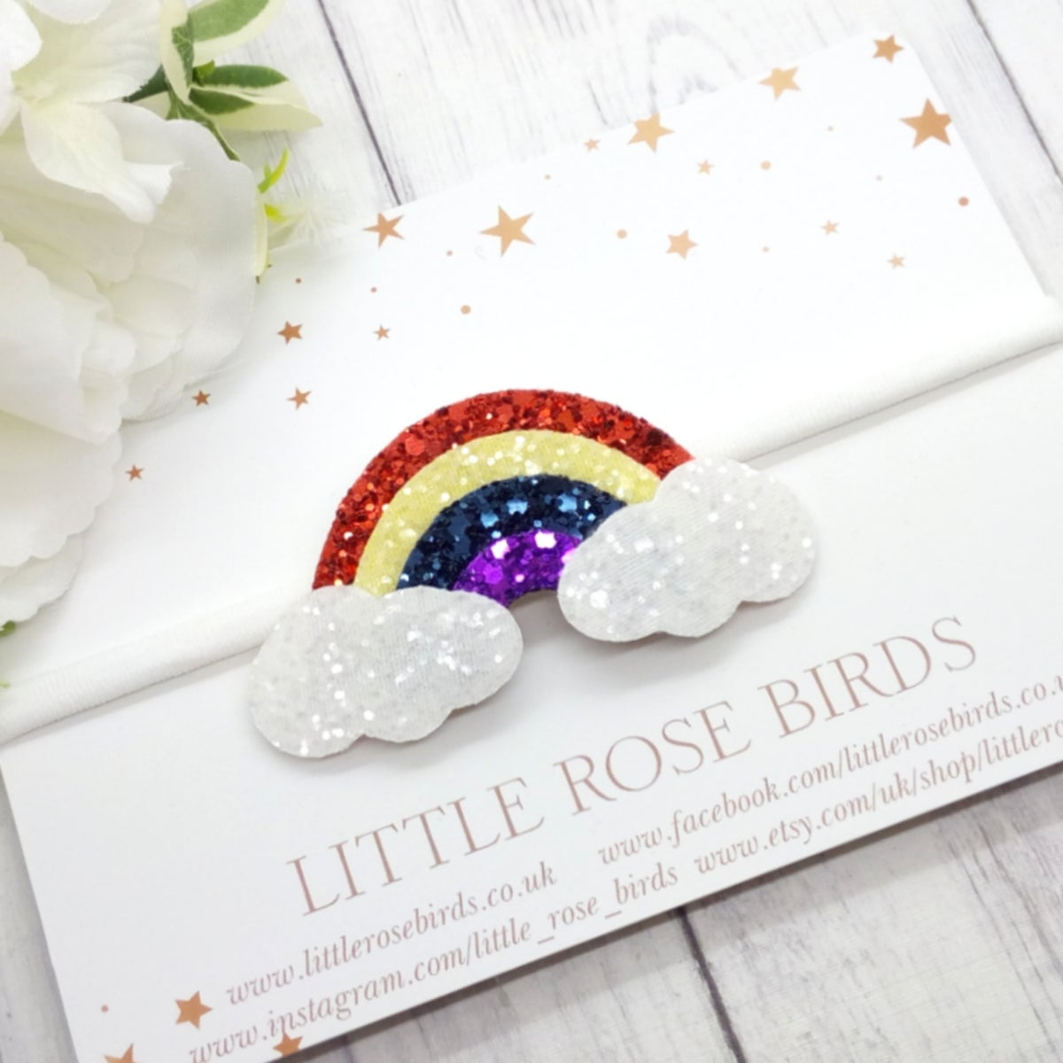 Image of Bright Rainbow of Hope - Choice of Headband or Clip