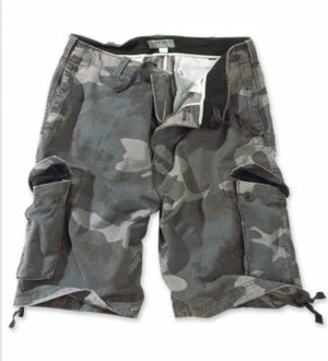 Image of Vintage short stone washed night camo