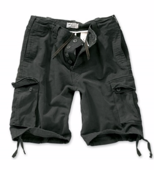 Image of Vintage short stone washed black