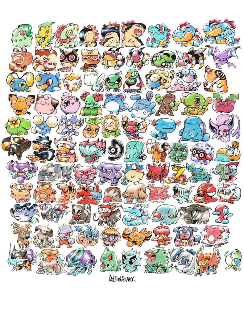 Image of GEN 2 Pokemon Poster