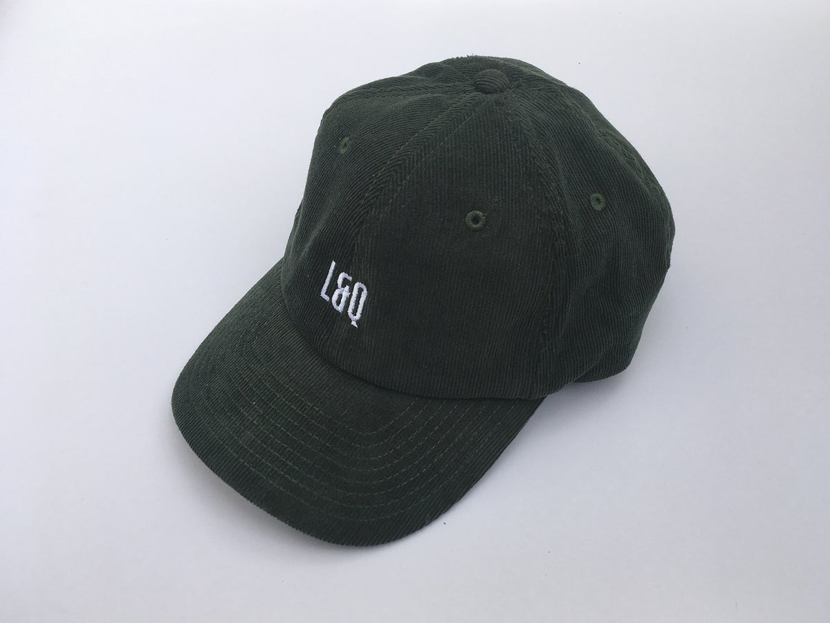 Image of L&Q Cord Cap in Olive Green