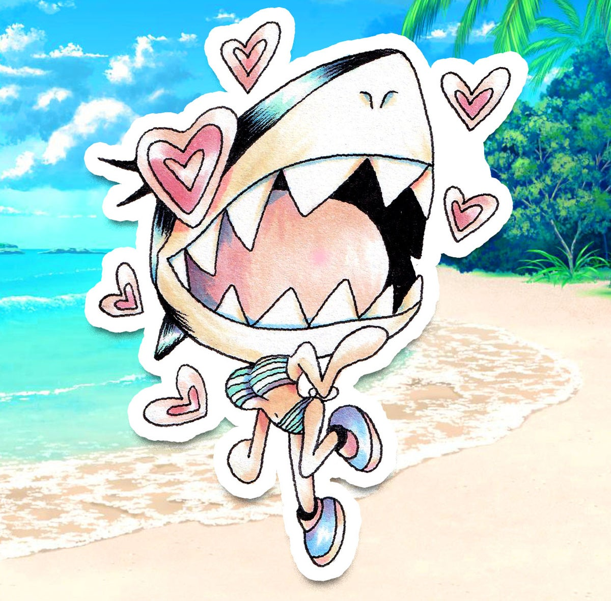 Image of Bikini Shark Sticker