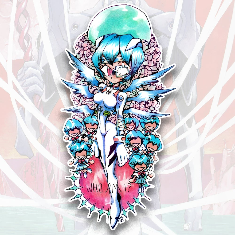 Image of Rei Ayanami Evangelion Sticker