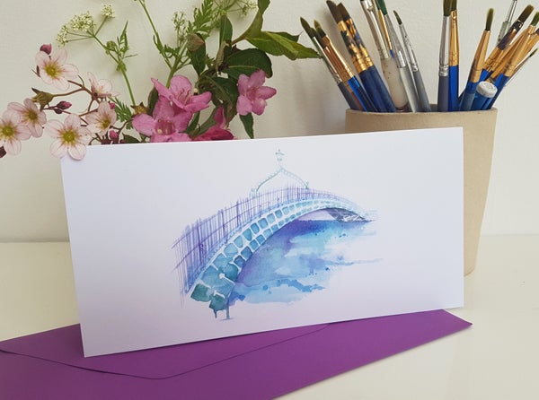 Image of Greeting card 'Ha'Penny Bridge, Dublin'