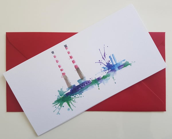 Image of Greeting card 'Poolbeg Chimneys, Dublin'