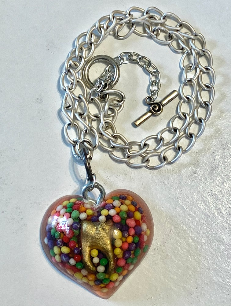 Image of Sweet Tooth Heart Necklace Limited Edition of 4
