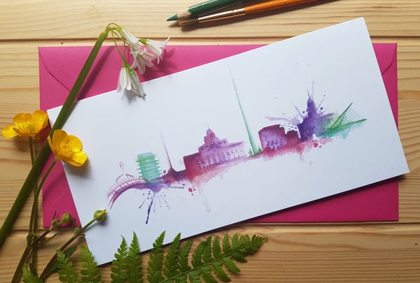 Image of Greeting card 'Dublin City'