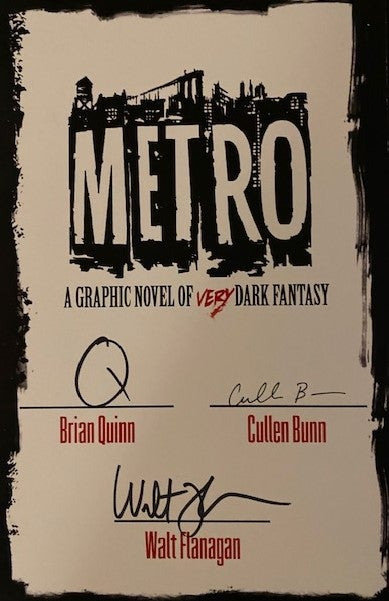 Image of METRO Hardcover w/ SIGNED BOOKPLATE
