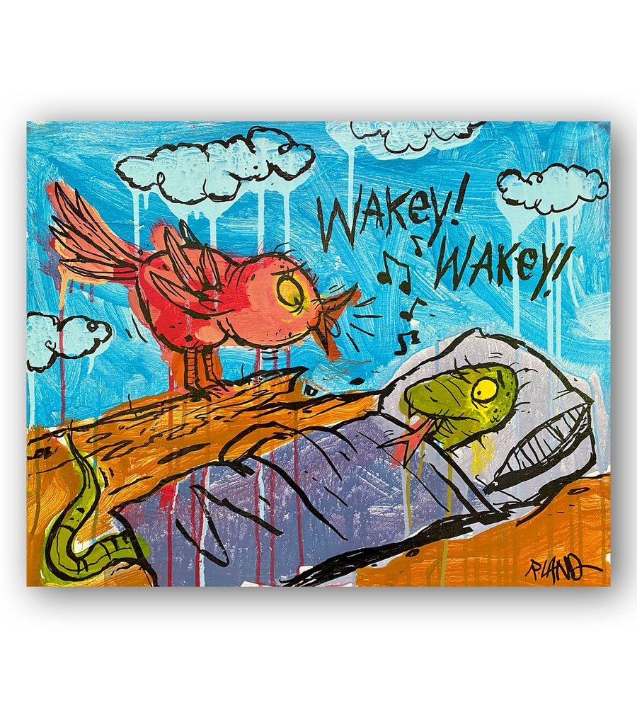 Image of Wakey Wakey original on canvas