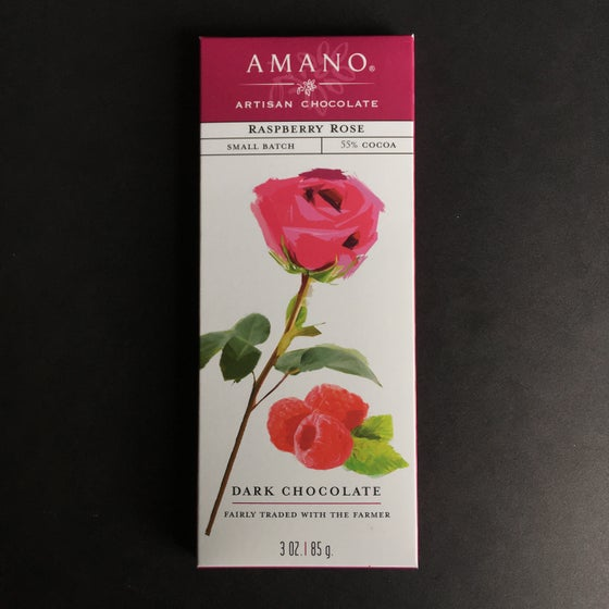 Image of Amano Chocolate Raspberry Rose 55% Dark Chocolate