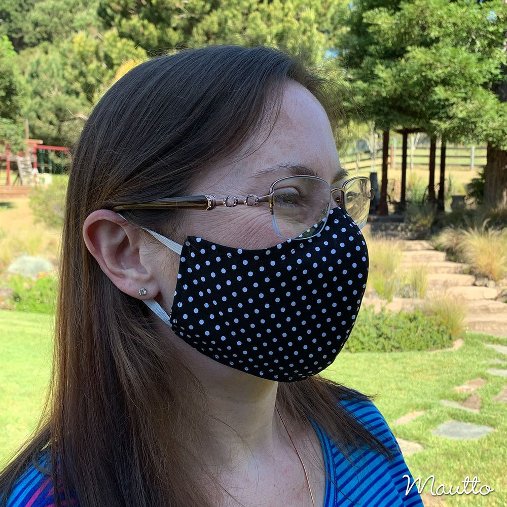 Image of Contoured Cloth Face Covering / Face Mask for Pandemic - Washable & Reusable - Free Shipping to USA