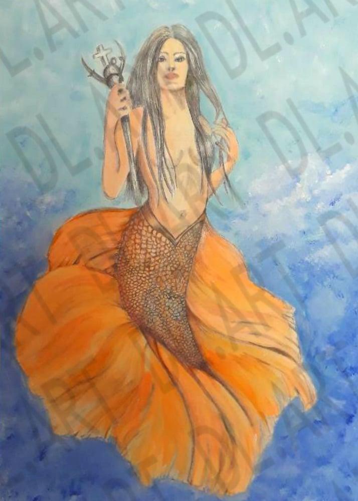 Image of Mermaid Warrior in color