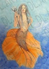Mermaid Warrior in color