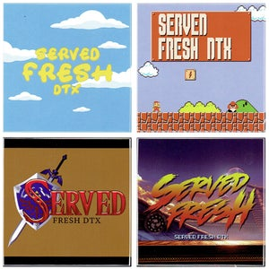 Image of SRVED FRSH STICKER PACK 001