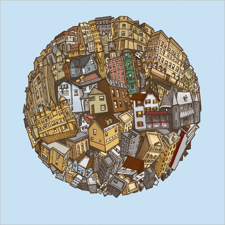 Image of Building Sphere Print