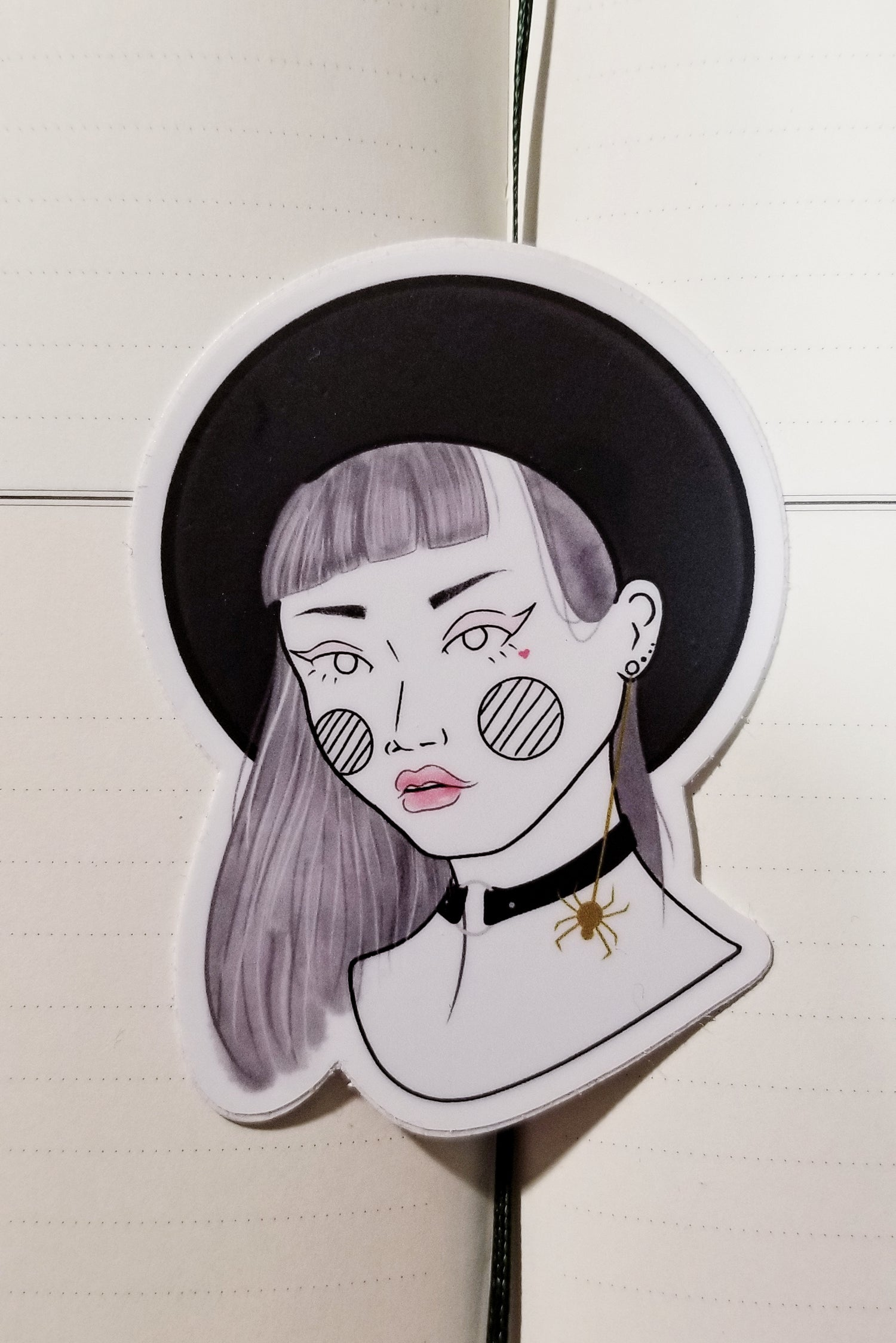 Image of goth girl (sticker)