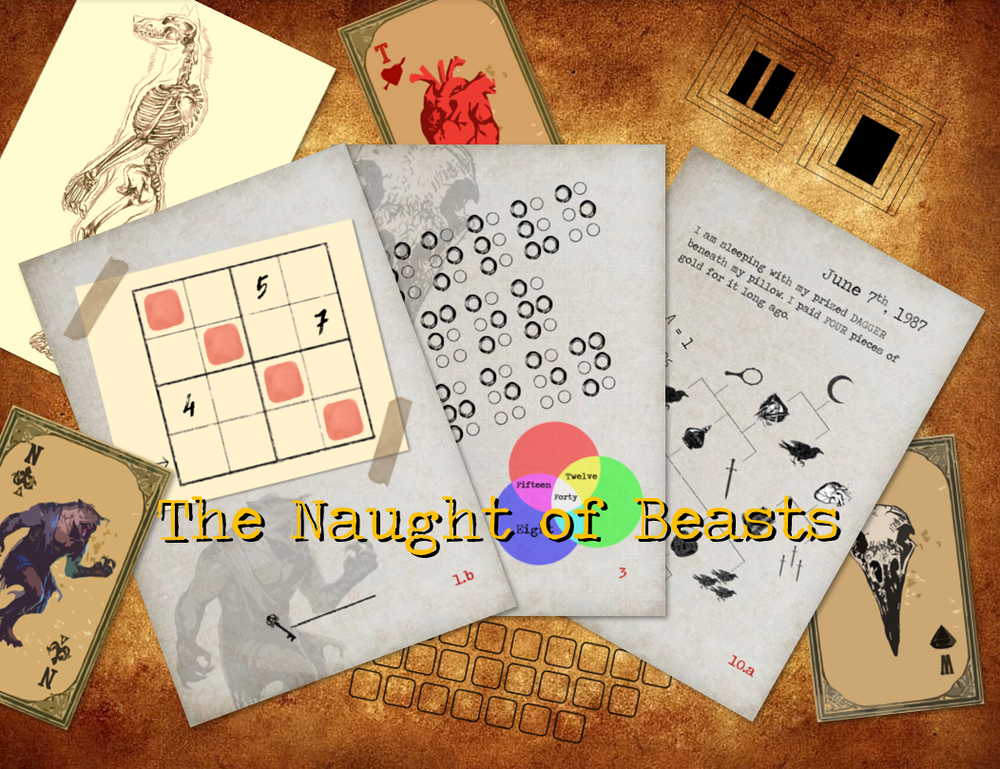 Image of The Naught Of Beasts - Print & Play Escape Room Game