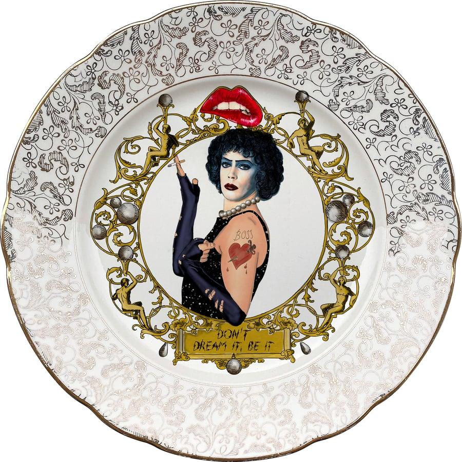 Image of TRHPS - Rocky Horror  - Vintage Porcelain Plate - #0722