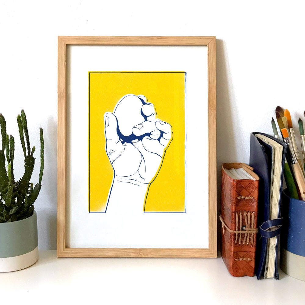 Image of Frail (Yellow & Blue) - A4 Giclée print