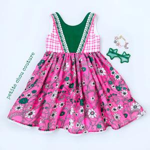 Image of Vintage star/floral dress OOAK sz 5/6
