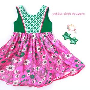 Image of Vintage star/floral dress OOAK sz 5