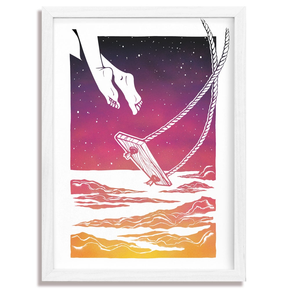 Image of Cosmic Swing - A3 Giclée print