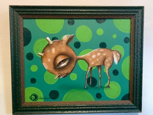 Image of Deerly Departed (I Ain't No Baby) original painting