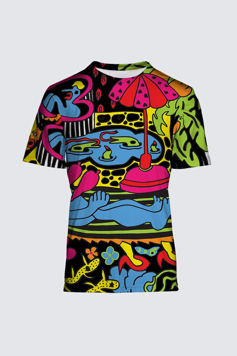 Image of 'Paradise Garden' Artist Exclusive (Limited Edition) Tee by Bud Snow,  all-over-print