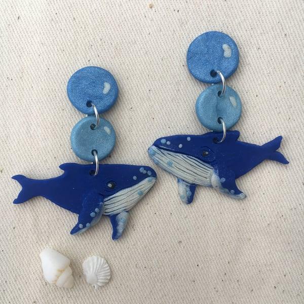 Image of Humpback Whale Earrings