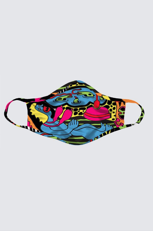 Image of 'Paradise Garden', Artist Exclusive (Limited Edition) Mask by Bud Snow
