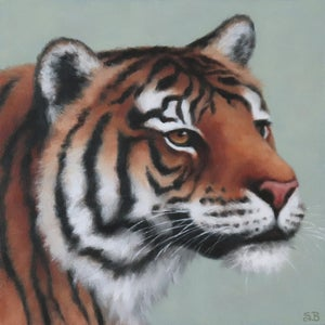 """Image of Tiger """"ART FOR GOOD"""" Original Oil Painting"""