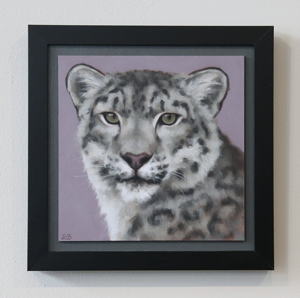 "Image of Snow Leopard ""ART FOR GOOD"" Original Oil Painting"
