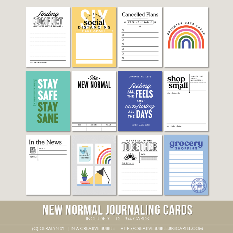 Image of New Normal Journaling Cards (Digital)
