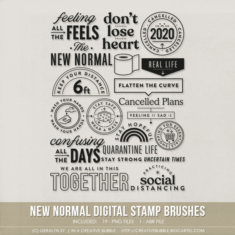 Image of New Normal Stamp Brushes (Digital)