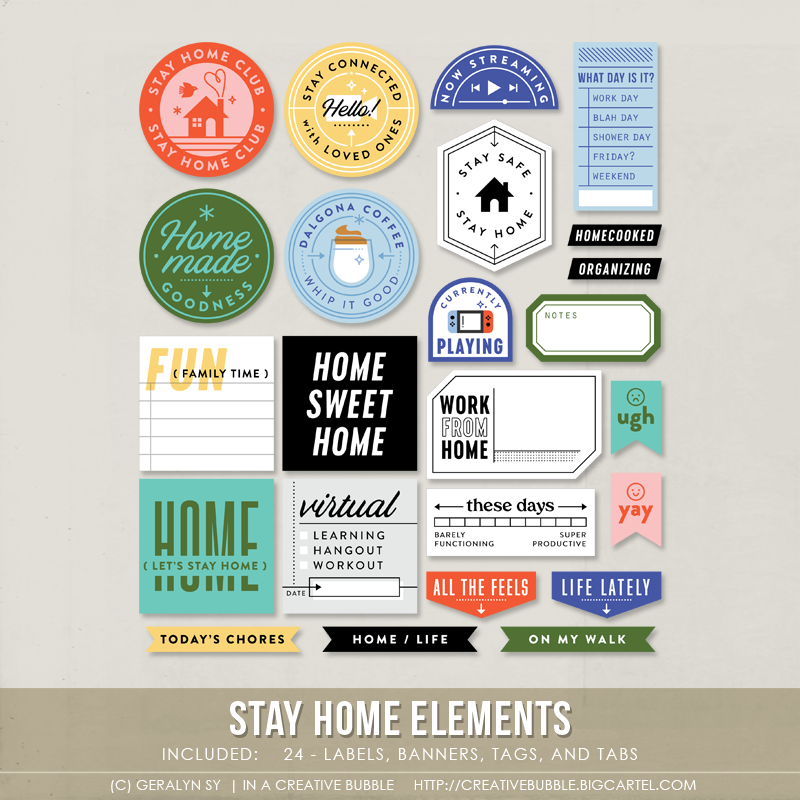 Image of Stay Home Elements (Digital)