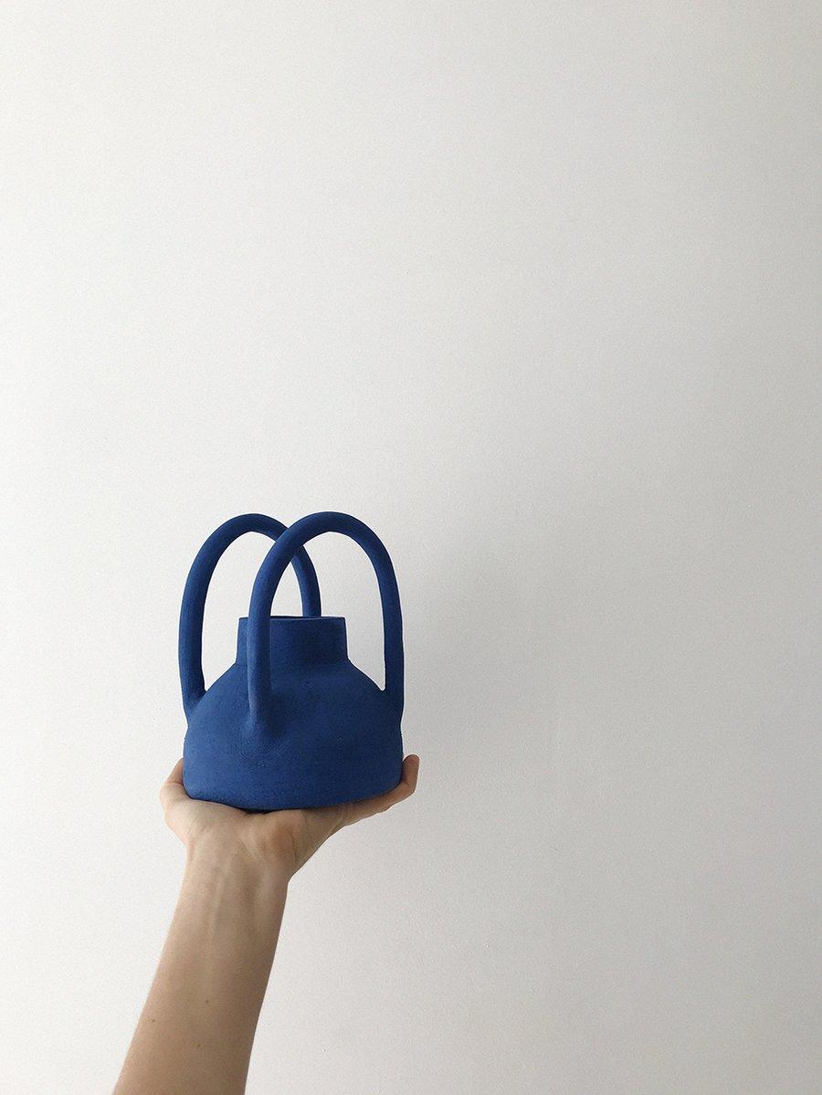 Image of Blue Vase w. Handles
