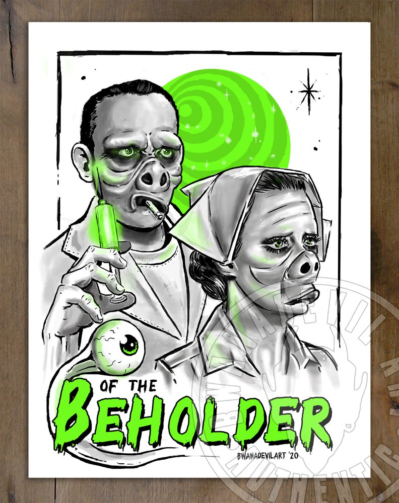 Image of Eye of the Beholder-Twilight Zone Doodle Art Print 9 x 12 in.