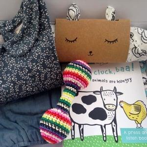 Image of Teal Farmyard Baby Gift Box