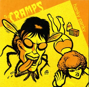"Image of 7"" EP.  The Cramps : Hanky Panky + 3.      (A&M Sessions)."