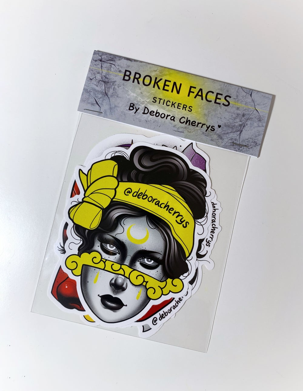 STICKERS PACK BROKEN FACES