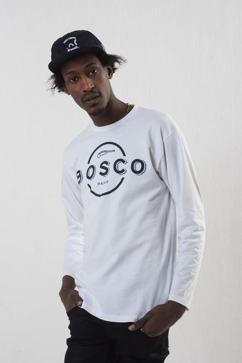 Image of    BOSCO PARIS T-shirt long sleeves full logo