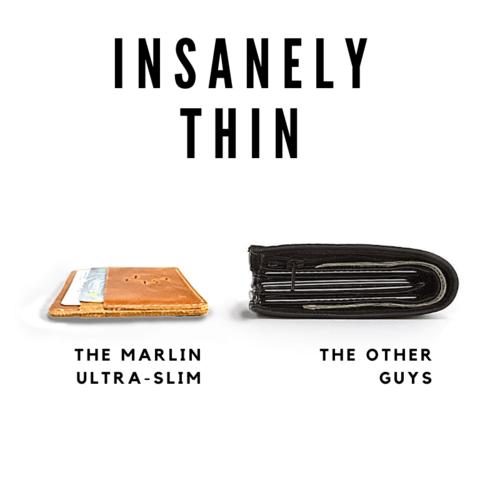 Image of Flint Leather Co. Marlin Ultra Slim Wallet- TN