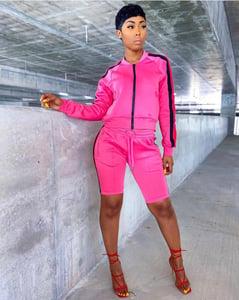 Image of Bermuda shorts tracksuit set