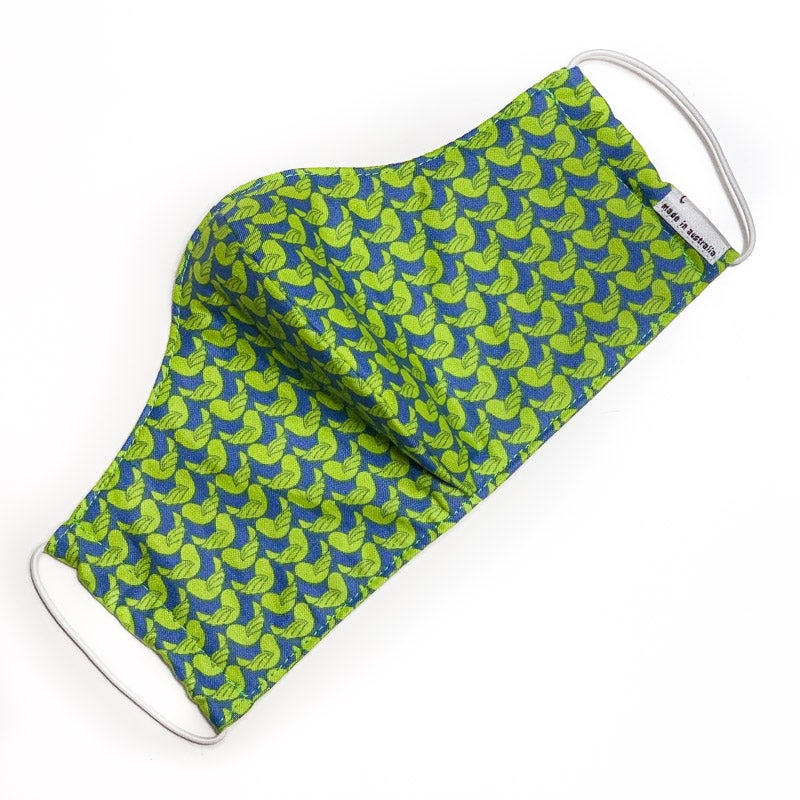 Image of Fabric Face Mask (Green Bird) - size XS only