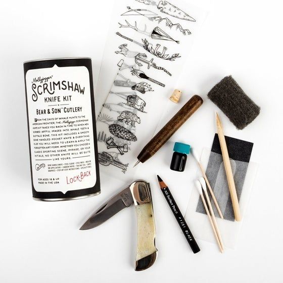 Image of Molly Jogger Bear & Sons Scrimshaw Kit